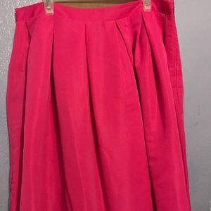 Forever21 plus circle skirt hot pink new w/o tags
